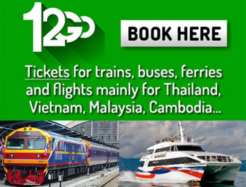 Buy tickets for train, bus, ferry in Thailand