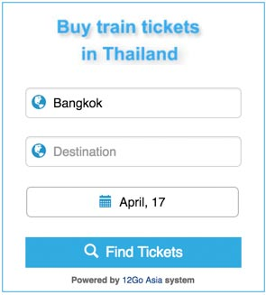 Buy Thai train tickets from 12go.asia