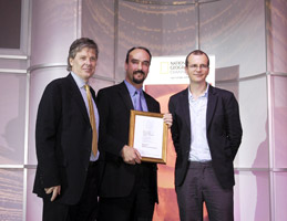 Receiving the award for Best Personal Contribution at the Responsible Travel Awards 2006