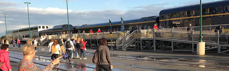 Alaska Railroad Trains Between Anchorage Denali Fairbanks