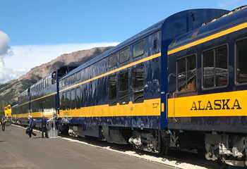 The train from Anchorage to Fairbanks