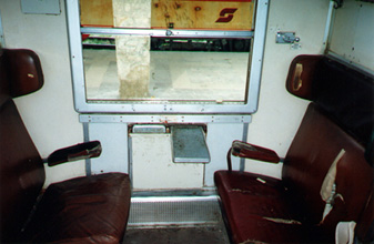 Inside an Italian coach compartment