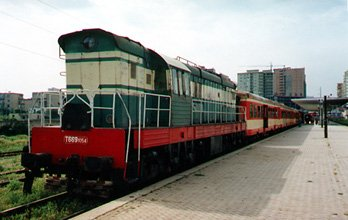 Intercity, Albania-style:  The 09:30 to Durrës waits to leave Tiranë