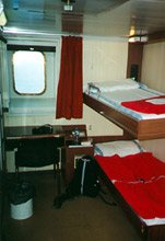 A 2-berth cabin aboard the 'Sansovino' from Bari to Albania...
