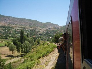 View from the train to Pogradec