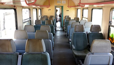 Seats on an Albanian train