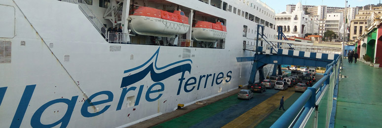 Ferry boarding in Algiers port