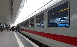 InterCity train from Amsterdam to Berlin