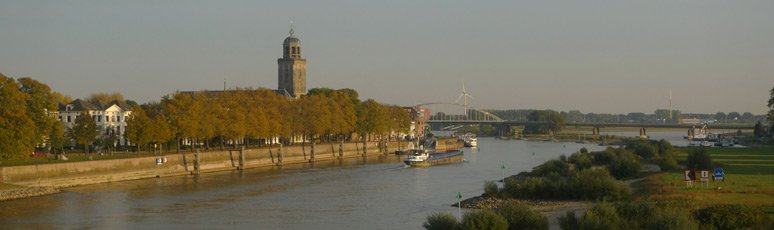 View from the train as it crosses the IJssel at Deventer