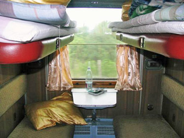 4-berth sleeper on Tblisi-Yerevan train