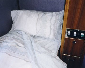 Gold Service on the Indian Pacific & The Ghan trains:  Roomette in night mode