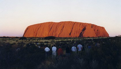 Ayer's Rock - Uluru.  Get there by train!