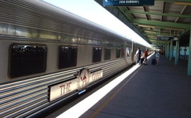 The Ghan from Adelaide to Alice Springs & Darwin:  Boarding Platinum Class