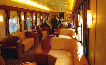 Gold Service on the Indian Pacific & The Ghan trains:  Outback Explorers Lounge