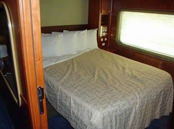 Platinum sleeper on the Indian Pacific and Ghan