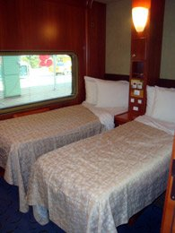 Platinum twin sleeper on the Indian Pacific & Ghan
