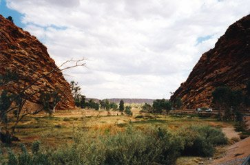 Heavitree Gap, where the train enters Alice Springs