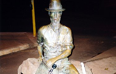 Statue of Paddy Hannan in Kalgoorlie