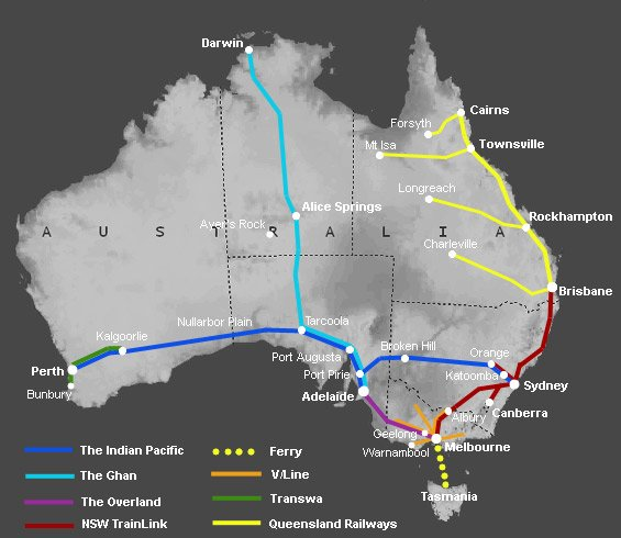 A guide to train travel in Australia – Train Travel In Scotland Map