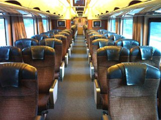 Seats on the 'Prospector' train to Kalgoorlie
