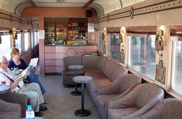 Club car on Queensland Railways' Spirit of the Outback