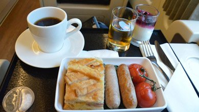 Breakfast  on the Spirit of Queensland tilt train
