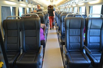 Economy seats on the Spirit of Queensland tilt train