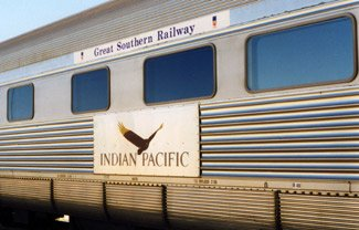 The Indian Pacific:  By train from Sydney to Adelaide to Perth