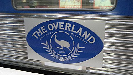 The 'Overland' train from Melbourne to Adelaide