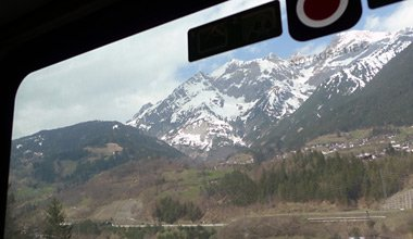 Train into Austria, more scenery