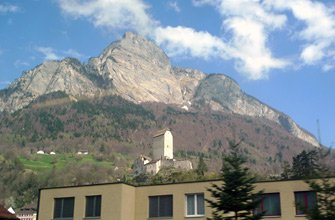 Train into Austria: Mountain scenery