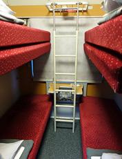 4-berth couchette on Nightjet train