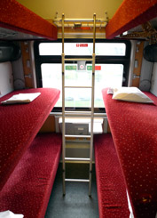 EuroNight sleeper train to Vienna:  6-berth couchettes