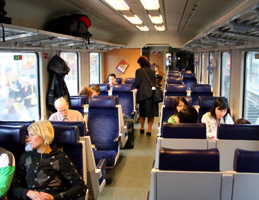 2nd class seats on the Munich-Zagreb train