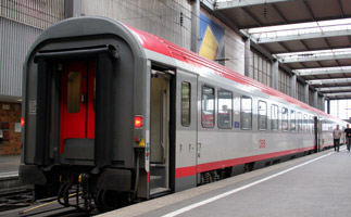 The EuroCity train from Munich to Ljubljana and Zagreb