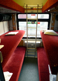 6-berth couchette compartment from Koln to Wien
