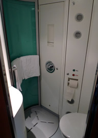 Deluxe sleeper shower & toilet