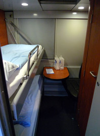 Deluxe sleeper on Cologne to Vienna EuroNight train
