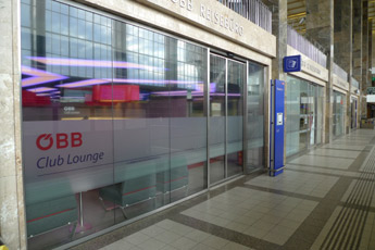 Exterior of the OBB lounge, Vienna Westbahnhof