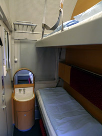 Standard sleeper, 2-berth, on Cologne to Vienna EuroNight train