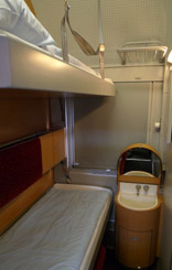 1 & 2 berth standard sleeper on the Austrian EuroNight train.