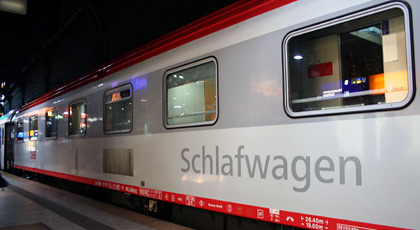 The Cologne-Vienna sleeper train is an Austrian Railways (OBB) EuroNight train