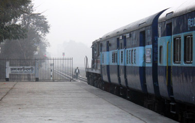 The Maitree Express about to leave Dhaka for Kolkata