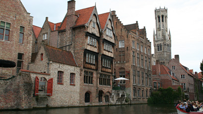 A boat tour round the canals of Bruges