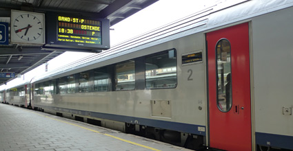 InterCity train from Brussels to Bruges, Ghent & Oostende