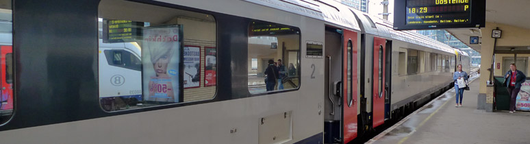 Belgian intercity train from Brussels to Bruges