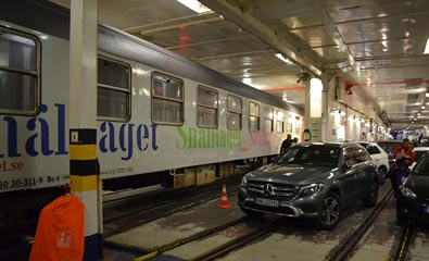 Berlin Night Express aboard the ferry