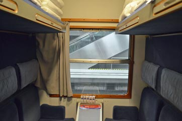 4-berth couchette on the Berlin Night Express