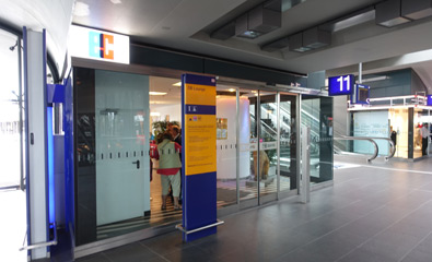 Entrance to DB Lounge at Berlin Hbf