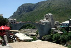 The bridge at Mostar, Bosnia
